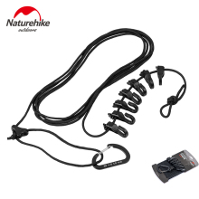 Naturehike Portable Clothesline Windproof Stretchable Drying Hanging Rope Adjustable Clothes with Hook for Outdoor