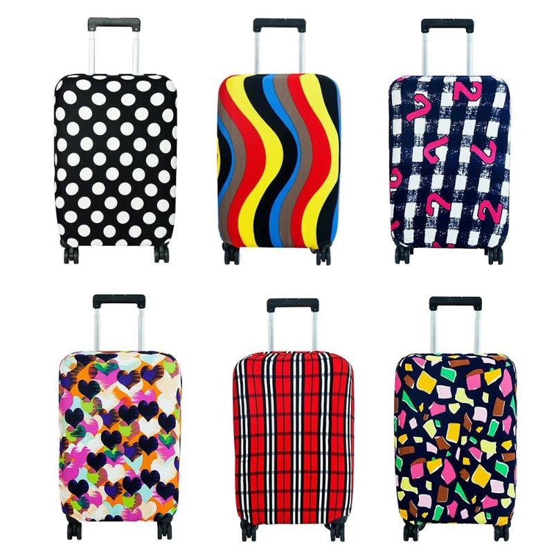 Thicker Travel Luggage Protective Cover Suitcase Case Travel Accessorie Elastic Luggage Dust Cover Apply To 18-20 Inch Suitcase