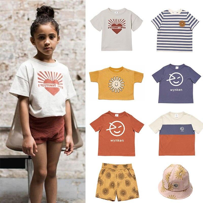 EnkeliBB 2020 New Wynken Kids Summer Tshirt Fashion Children Short Sleeve T Shirts Baby Boys Girls Sun Print Tops Brand Kids Top