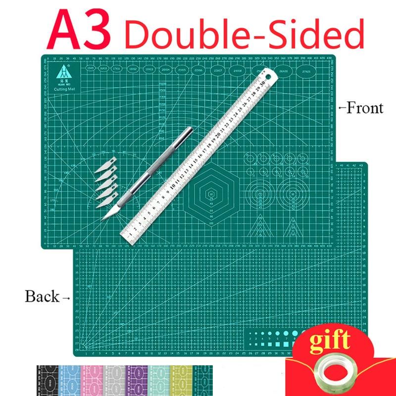 A3 Cutting Mats Cushion Board Large Handwritten Test Paper Drawing Beauty WorkbeScaling Model Rubber Seal Engraving Board DIY