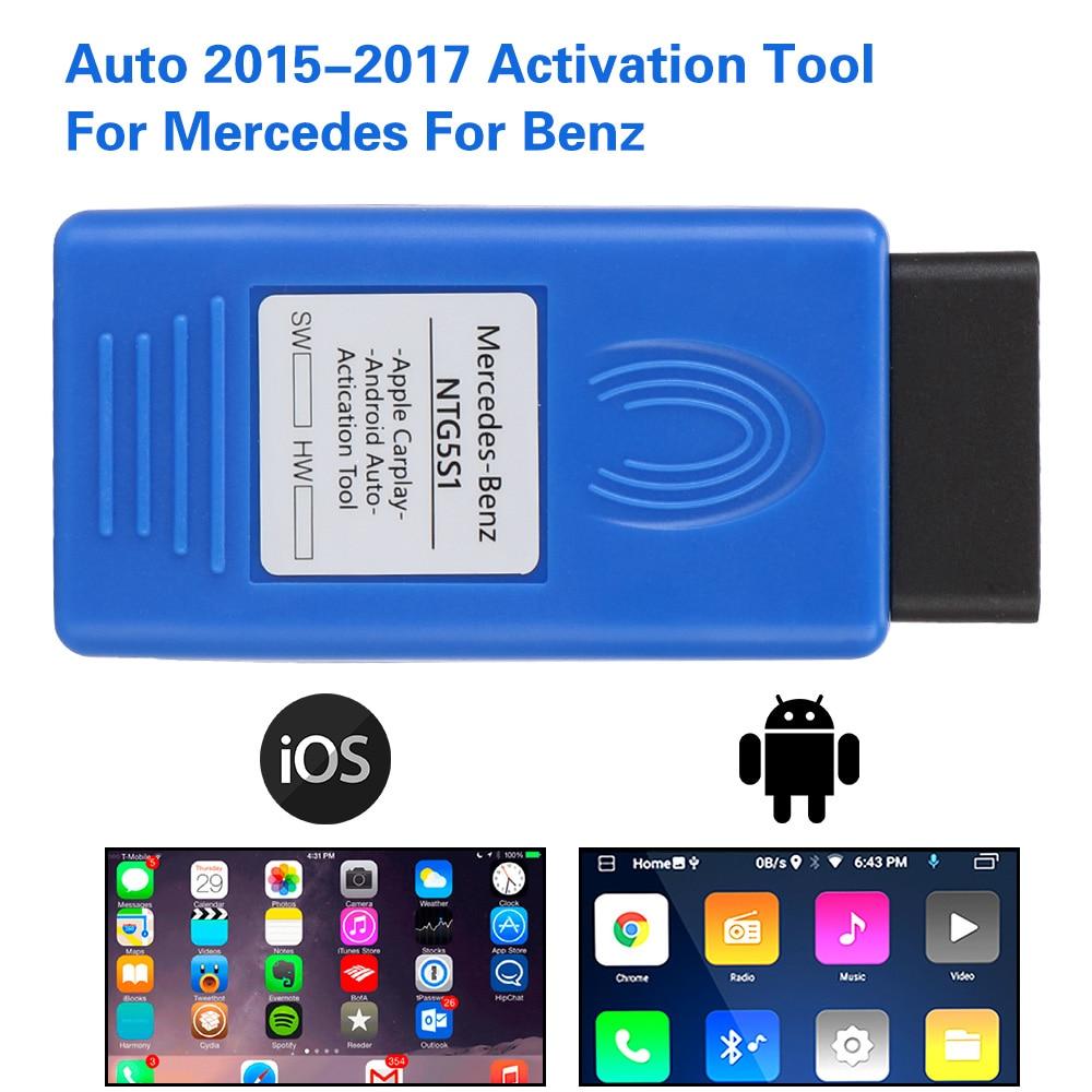 Инструмент для диагностики автомобиля Mercedes для Benz инструмент для активации автомобиля IOS/Android NTG5 S1 авто OBD активатор carplay