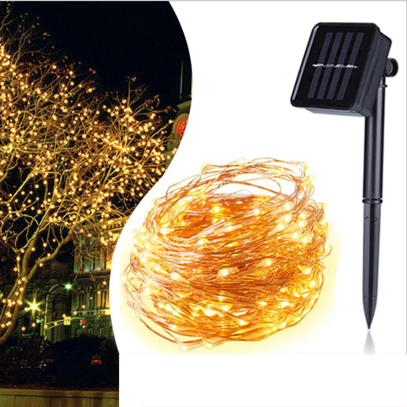 IP44 Waterproof String Lights 2V 200 LED Solar Christmas Light Outdoor 8 Modes Backyard Solar Lamp Holiday Party Garden NewYear