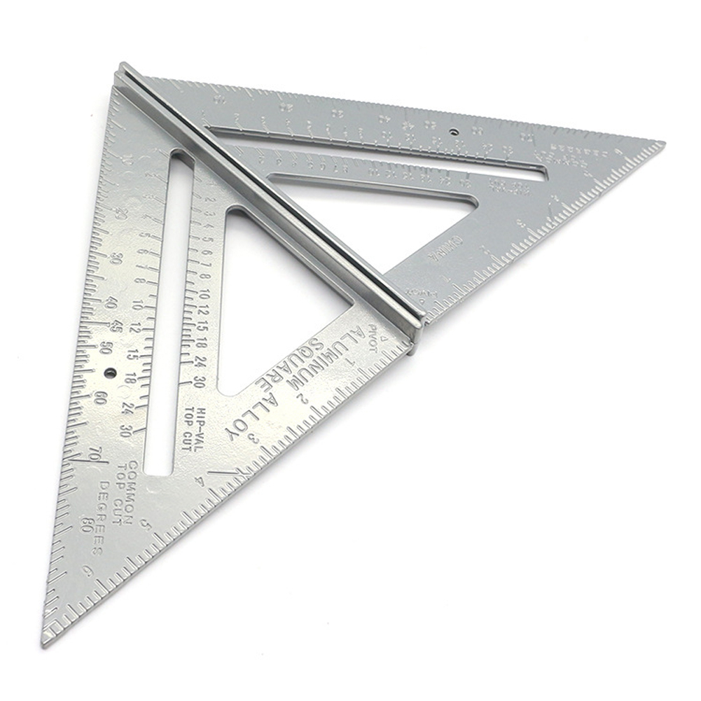 7 inch Aluminum Alloy Metric Triangle Angle Ruler Squares For Woodworking Speed Square Angle Protractor Measuring Tools
