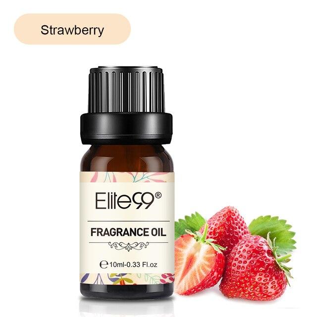 Elite99 Erdbeere Duft Öl 10ml Pfirsich Mango Obst Reine Ätherische Öle Für Aromatherapie-luftbefeuchter Freshing Air Aroma Öl
