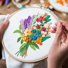 DIY Embroidery Cross Stitch Bouquet Needlework Home Decoration Flowers for Household Beginner