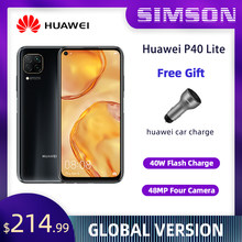 HUAWEI P40 Lite 6GB 128GB 6.4 inç FullView ekran 2310*1080 Kirin810 Octa çekirdek EMUI 10 hızlı küresel sürüm