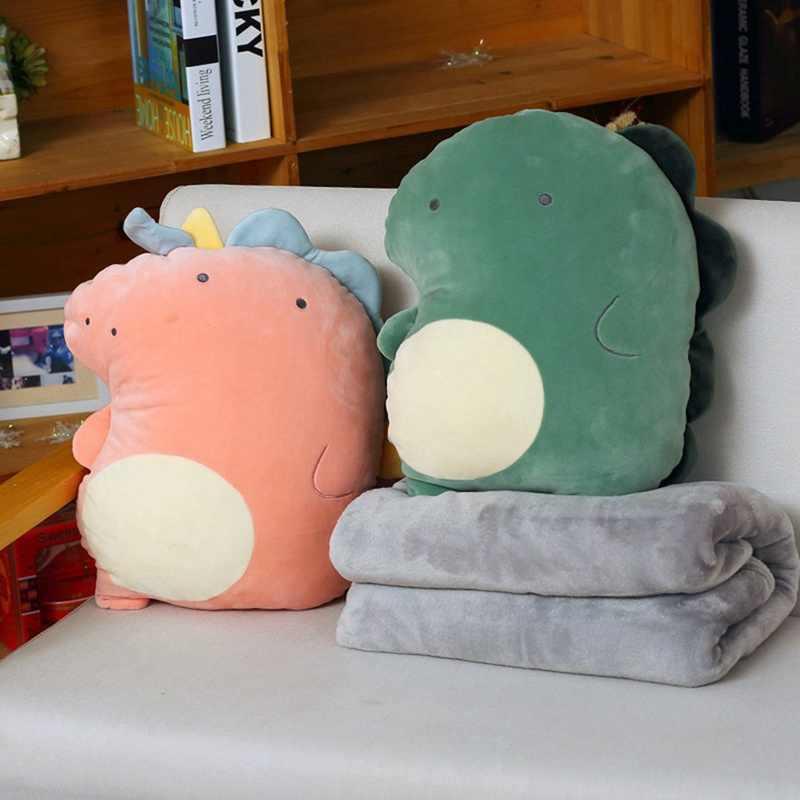 かわいい恐竜毛布枕旅行枕空調毛布枕コンボ女の子を送信ベストギフト卸売