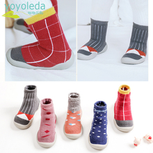 Shoe Floor-Socks Newborn Baby-Boys Girl Winter Rubber-Sole Knitted Bootie Warm Breathable