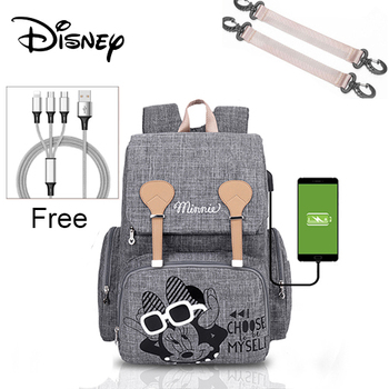 Disney Pre-design Cartoon Baby Diaper Bag Waterproof Baby Bag Organizer Nappy Maternity Bag For Stroller Mom Travel Free Hooks - 6