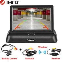 JMCQ – moniteur de voiture pliable LCD HD TFT 4.3 pouces, caméra de recul, système de stationnement pour voiture