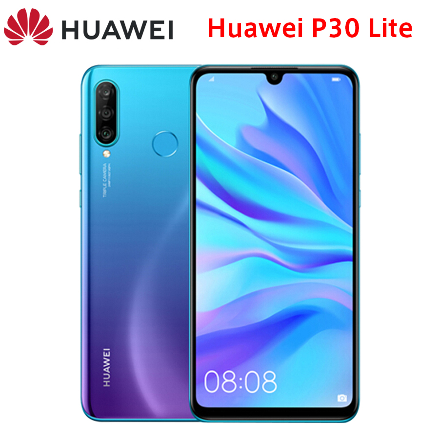 "Global Huawei P30 Lite LTE Mobile Phone 6.15"" 6GB RAM 128GB/256GB ROM Kirin 710 Octa Core Triple Rear Camera Android Smart Phone"