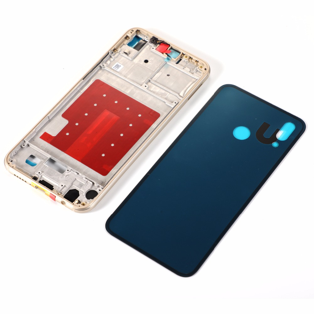 Housing Middle Frame For HUAWEI P20 lite nova 3E Glass Back Battery Cover+Middle Frame Rear Plate + Adhesive Sticker+ Tools