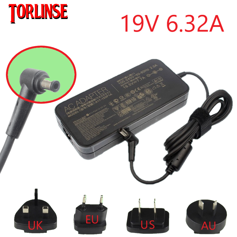 <font><b>19V</b></font> <font><b>6.32A</b></font> <font><b>120w</b></font> Laptop Charger AC Adapter Power for <font><b>asus</b></font> G73 G71 UX501 GL751 K73 K53 for acer\hp\toshiba laptop image