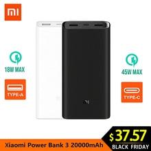 Xiaomi power Bank 3 20000 мАч Pro USB C PPS/QC4.0 внешний аккумулятор, портативный Быстрый заряд 20000 мАч, внешний аккумулятор для телефона F2