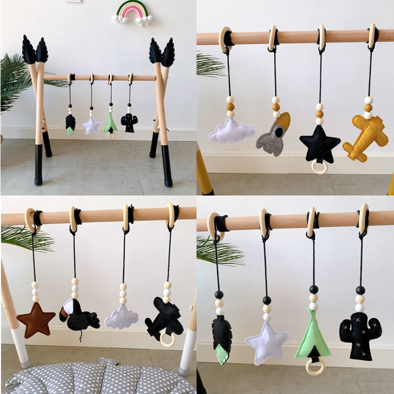 Nordic Style Baby Play Gym Wooden Baby Gym Activity Sensory Develop Play Game Fitness Frame Rack Early Education Toy for Baby