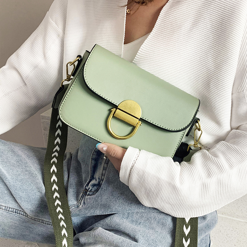 Small Candy Color Pu Leather Crossbody Bags With Wide Shoulder Belt Lady Summer Shoulder Bags 2020 Female Handbags