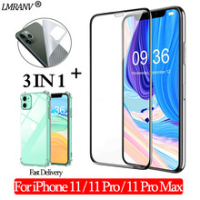 Airbag Shockproof Case + Tempered Glass for iPhone 11 Pro 3-in-1 Screen Protector Back Film Glass on iPhone11 11 ProMax 3D Glass airbag shockproof case tempered glass for iphone 11 pro 3 in 1 screen protector back film glass on iphone11 11 promax 3d glass