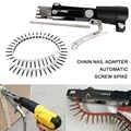 Corrente do prego adaptador automático parafuso spike chain prego arma para furadeira elétrica sem fio acessório ferramenta para trabalhar madeira