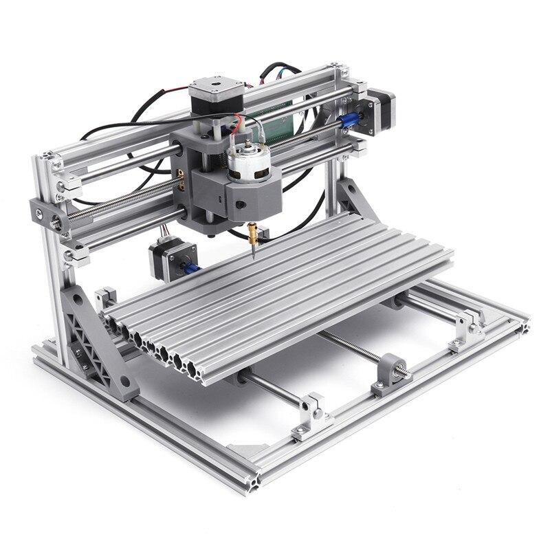 Fresadora CNC 3018 Pro GRBL Control DIY Mini 3 ejes M/áquina para trabajar la madera M/áquina de grabado CNC ER11 15W Cabezal l/áser