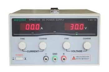 цена на KPS6010D High precision High Power Adjustable LED Dual Display Switching DC power supply 220V EU 60V/10A free shipping KPS