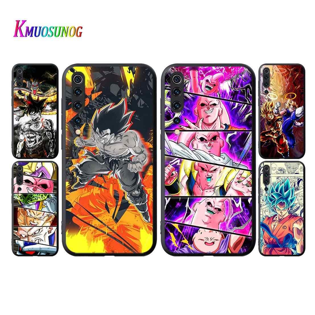 Dragon Ball Z DBZ Goku tarzı kapak için Xiaomi Mi 9 9T CC9 10 Lite 5G Pro not 10 9 SE 8 A3 A2 6X Lite telefon kılıfı