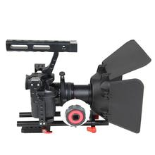 Aluminum Alloy Camera Cage Video Stabilizer Kit Mount with Matte Box and Follow Focus for Sony A7 A7II A7r A7s II