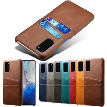 For Samsung Galaxy S20 Ultra A71 A81 A91 A51 A21 A70 A60 A50 A40 A30 A20 A10 Note 8 9 10 S8 S9 S11 Plus Card Holder Leather Case