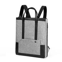 CAI Tote Bag Back Pack Removable Belt 14 Laptop Office Briefcase Bookbag Girl Handbag School Shoulder Bags Sling Women Teenager