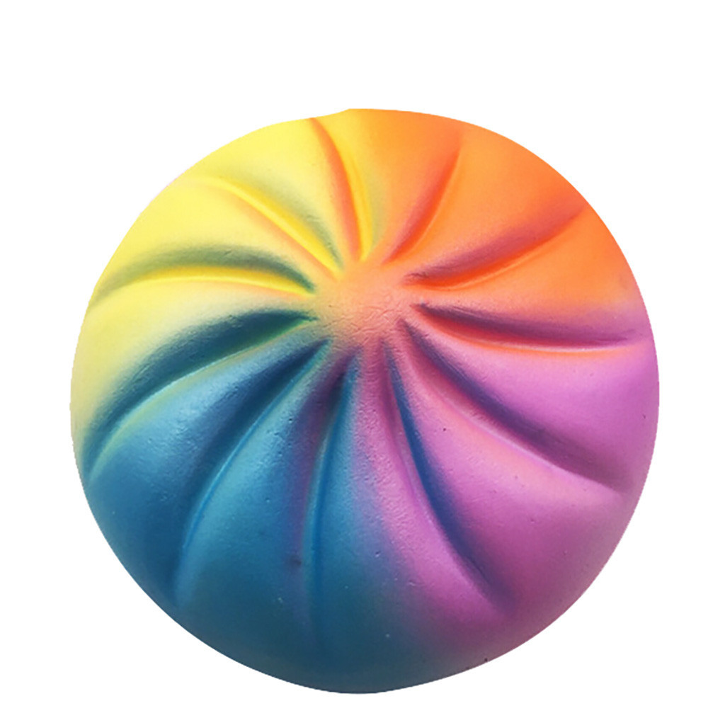 Colorful Simulation Bun Decompression Toys Slow Rising Artificial Toy Stress Reliever Anti-anxiety Gift Pressure Relief Toy #B
