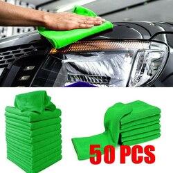 Gospodarstwa domowego 50 sztuk ściereczki do mycia z mikrofibry bez zadrapania samochód do polerowania detali ręcznik ręcznik kuchenny ofertas relampago w Ściereczki do czyszczenia od Dom i ogród na