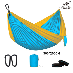 Image 4 - Double Hammock Adult Outdoor/Indoor Furniture Camping Parachute Backpack Travel Survival Hunting Sleeping Portable Hanging Bed