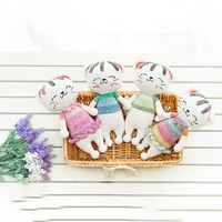 2019 cute 100% hand knitted crochet wool thread fat cat doll children's best gift toy accessories (finished products)