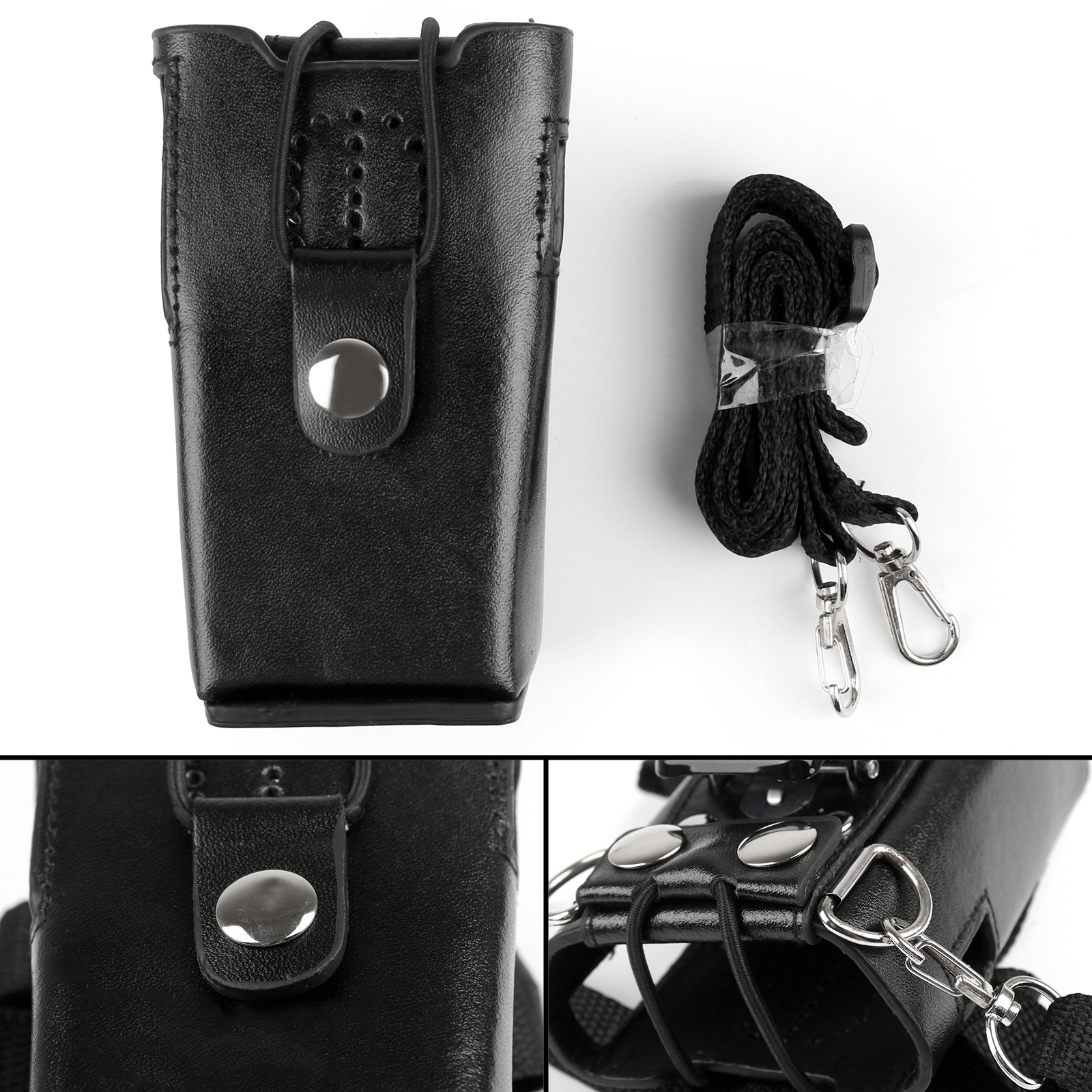 Artudatech Leather Holder Case For Kenwood <font><b>TK</b></font>-2100 <font><b>TK</b></font>-2107 <font><b>TK</b></font>-3100 <font><b>TK</b></font>-<font><b>3107</b></font> 2-Way Radio <font><b>TK</b></font> 2100 2107 3100 <font><b>3107</b></font> Accessories image
