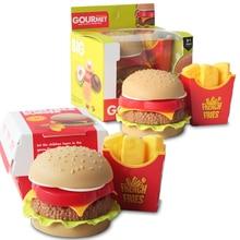 House-Toys Hamburger Kitchen-Set Miniature Hotdog Fast-Food Snack Pretend Kids Play Children