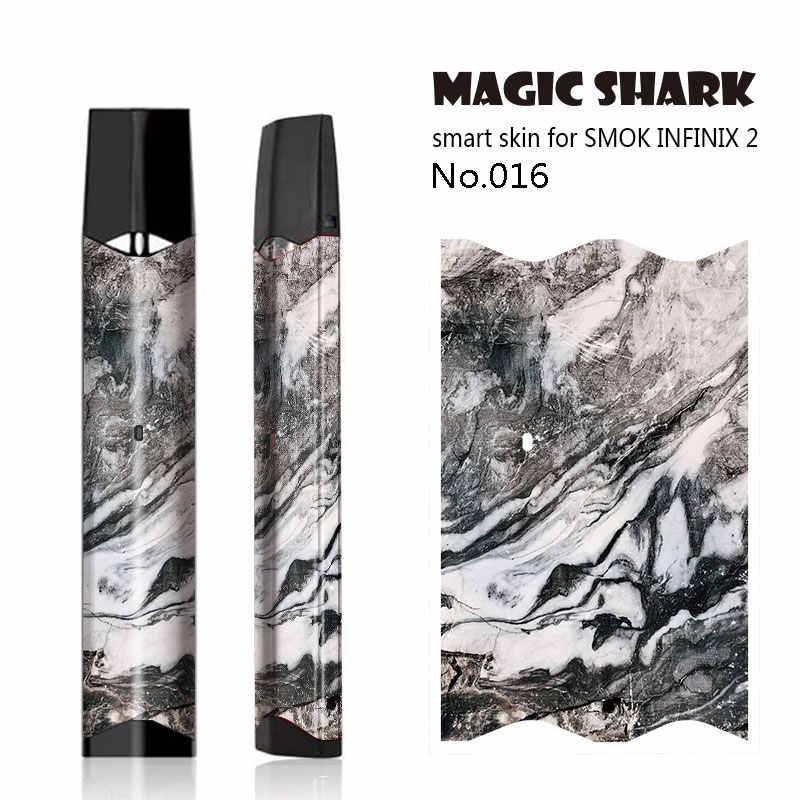 ماجيك القرش الخشب الشتاء القادمة زهرة ليوبارد V-ثأر الجمجمة Vape غطاء حالة ملصق كامل التفاف فيلم ل Smok infinix 2 كيت