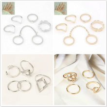 1 Set Sell Elephant Ring Fashion Gold Color Knuckle Rings For Women Finger Knuckle Rings(China)