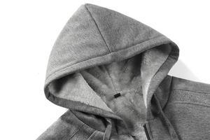 Image 5 - ブランド男性の毛皮ライニングパーカーウール暖かいスウェット秋冬フリースコートスポーツウェア 2019 男性パーカー上着ユーロサイズ