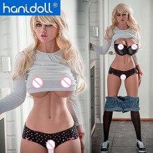 Секс-кукла Hanidoll 170 см, силиконовая черная секс-кукла, реалистичные реальные игрушки для мужчин, полное тело, Вагина, взрослые куклы любви