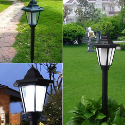 Outdoor Solar Power LED Path Way Wall Landscape Mount Garden Fence Lamp Light