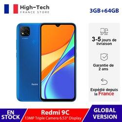 Глобальная версия Xiaomi Redmi 9C смартфон 3 ГБ ОЗУ 64 Гб ПЗУ 13 МП Тройная камера 6,53 дюймдисплей MTK Helio G35 5000 мАч мобильный телефон