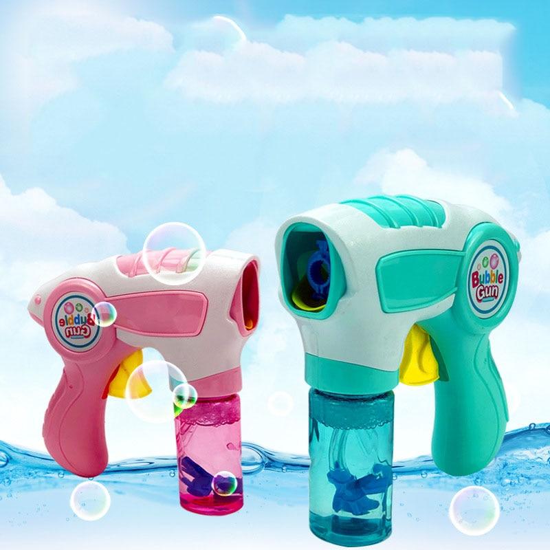 Kids Magic Wand Bubble Gun Blower Toy Electric Magic Automatic Soap Bubble Machine Light Music Outdoor Toy For Children Oyuncak