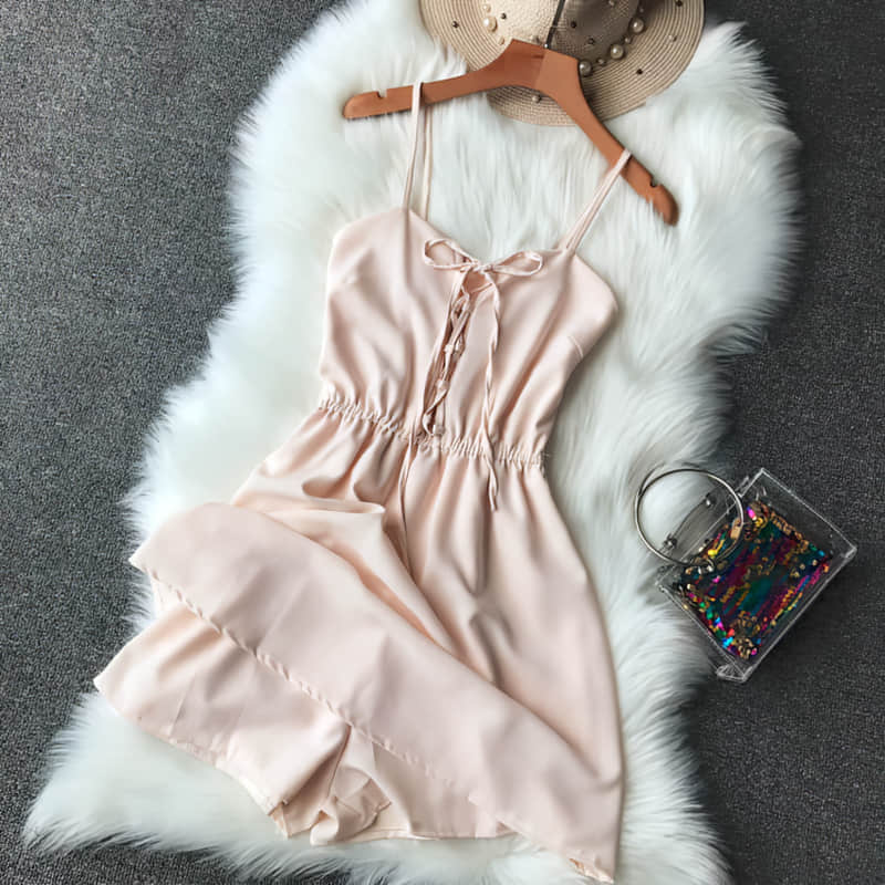 H65cc40a5c6e744208c18379e51d3e6ddy - Candy Color Elegant Jumpsuit Women Summer Latest Style Double Ruffles Slash Neck Rompers Womens Jumpsuit Short Playsuit