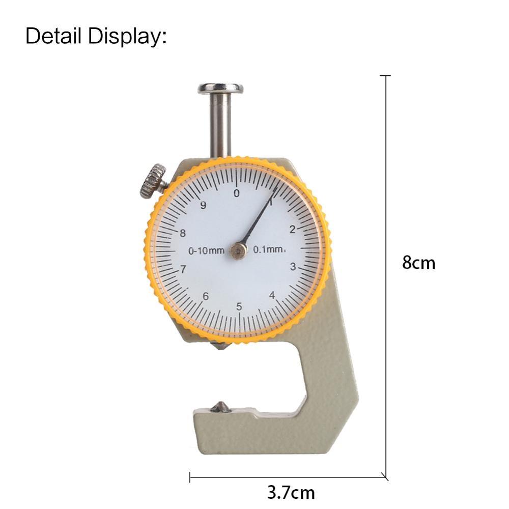 Argent jaune métal cuir épaisseur mètre largeur mesure épaisseur jauge Durable cadran testeur micromètre cuir jauge