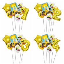 Car-Ballons Tractor Excavator Farm Gifts Globos Birthday-Party-Decorations Cartoon Children