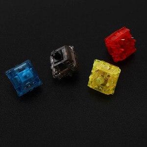 Image 2 - Gateron чернила v2 переключатели прозрачный дымчатый корпус синий; Желтый; Красный; Черный бесшумный Черный Механическая клавиатура настраиваемый переключатель 5pin