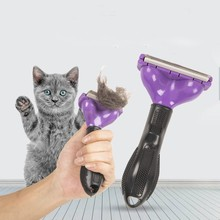 2021new Dog Grooming Comb Comfortable Pet Hair Removal Comb  Pets Grooming Tools Cat Rake Removal fur brush Dogs Cat Knot Cutter