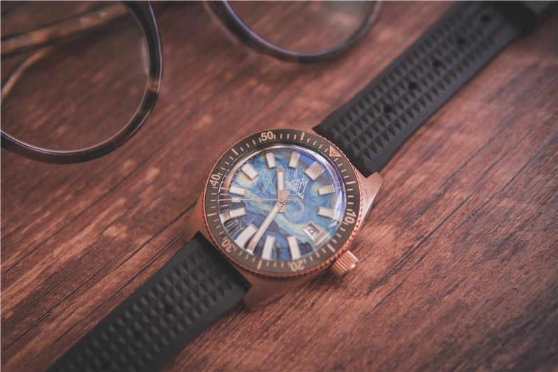 Proxima 男性ヴィンテージダイビング腕時計 CUSN8 腕時計自動ブロンズ 6200 CUSN8 ベゼル完全ダイヤル