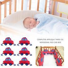 Детские бамперы для кроватки, дышащие 3D Бамперы для кроватки для малышей, новорожденных, хлопок