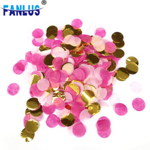 10g/bag Mixed Colors Rose Gold Round Confetti Dots Pink Baby Shower Girl Film Filling Balloons First Birthday Wedding Decoration