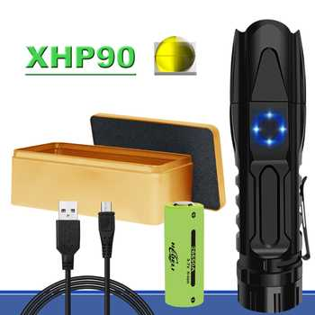 New pattern xhp90 most powerful flashlight rechargeable led  tactical flash light hunting usb torch xhp70 xhp50 26650 or 18650  - DISCOUNT ITEM  48% OFF All Category